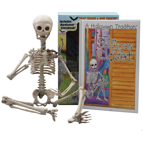 Skeleton in the closet book and doll set