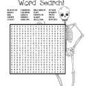 Hot Cross Bones – A Halloween Word Search
